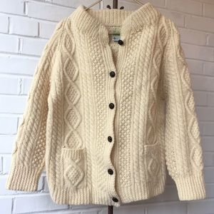 Kennedy Cream Irish Fisherman's Sweater Sz XL